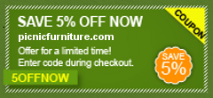 Picnicfurniture.com 5% off promotion